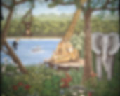Custom painted wall murals - junge mural