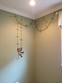 Monkey on vine swing