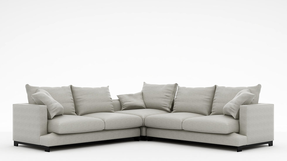 "Lazy Time Small Corner Sofa - 107"""