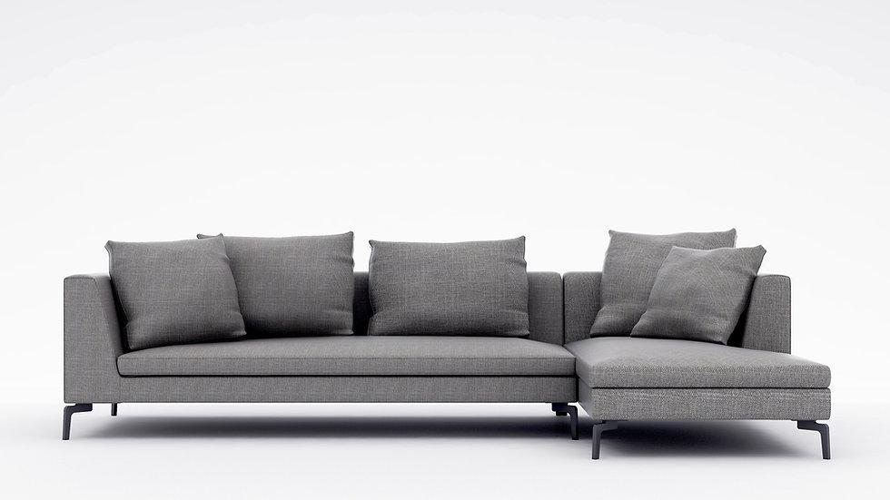 "Alison Plus Sectional Sofa - 128"""