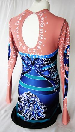 Deep Blue Persian Flower-Back 2
