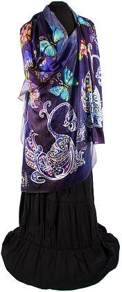 Bird of Dream and the Butterflies in Silk Habotai/Paj