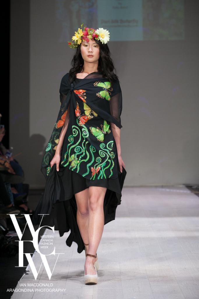 Hand painted silk scarf-Pari Chehrehsa - Designer Scarf- Canada 201813