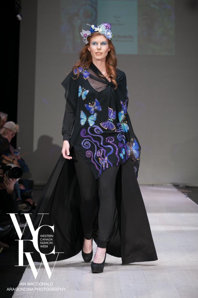 Hand painted silk scarf-Pari Chehrehsa - Designer Scarf- Canada 201815