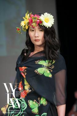 Hand painted silk scarf-Pari Chehrehsa - Designer Scarf- Canada 201814