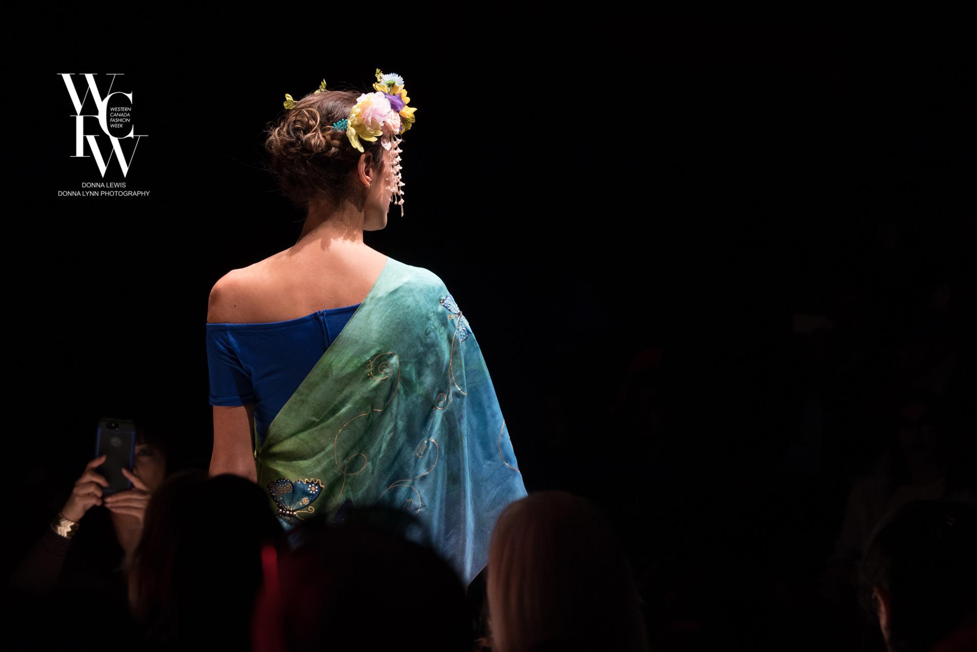 Hand painted silk scarf-Pari Chehrehsa - Designer Scarf- Canada 201867