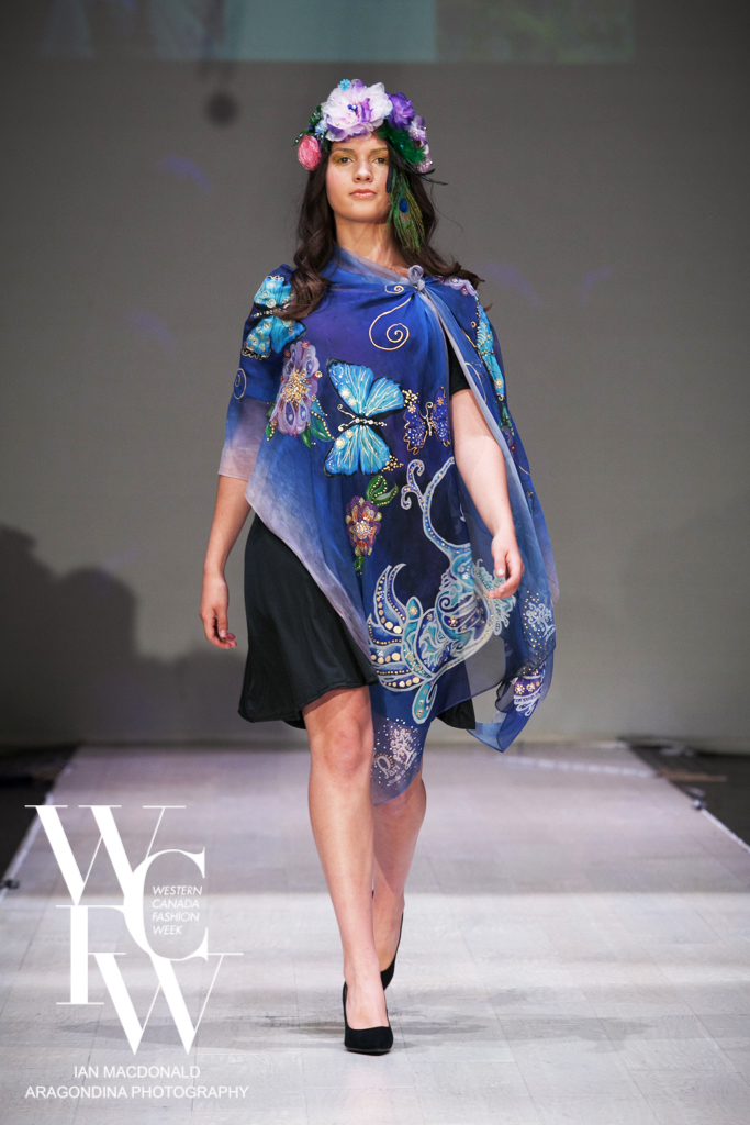 Hand painted silk scarf-Pari Chehrehsa - Designer Scarf- Canada 20182