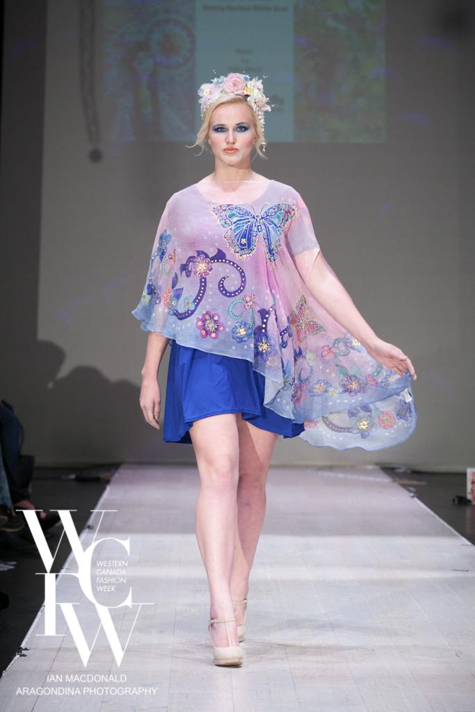 Hand painted silk scarf-Pari Chehrehsa - Designer Scarf- Canada 201833