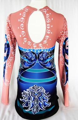 Deep Blue Persian Flower-Back 1