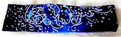 Deep Blue Persian Flower-Headband 1