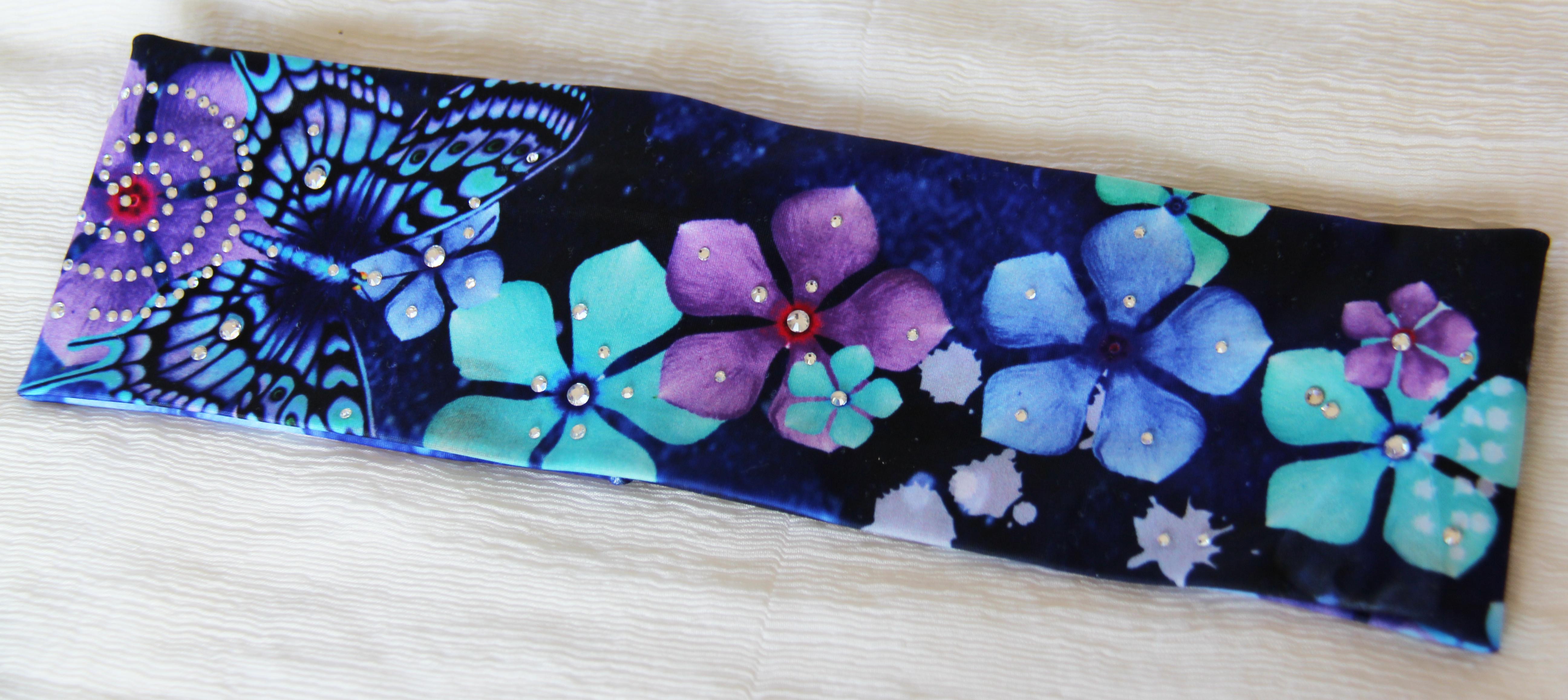 Dancing Butterflies & Flowers  in the Cosmo! headband 1