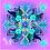 Thumbnail: Soft Purple Flower Basket . Small Square Silk Scarf