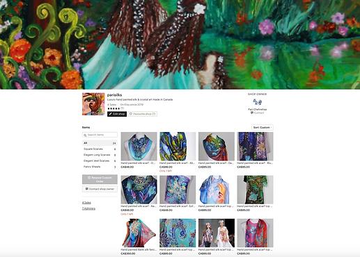 Pari Chehrehsa - Silk Scarves- Etsy Shop