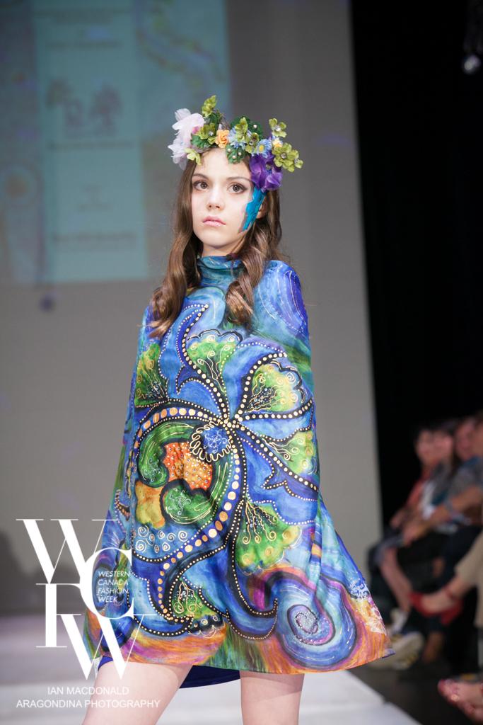 Hand painted silk scarf-Pari Chehrehsa - Designer Scarf- Canada 201831