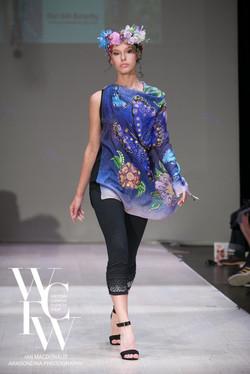 Hand painted silk scarf-Pari Chehrehsa - Designer Scarf- Canada 201828