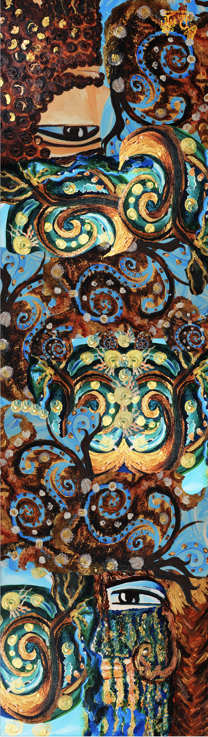 Adam & Eve Hand Painted Silk Scarf