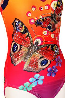 Yellow orange butterflies- Close up 1