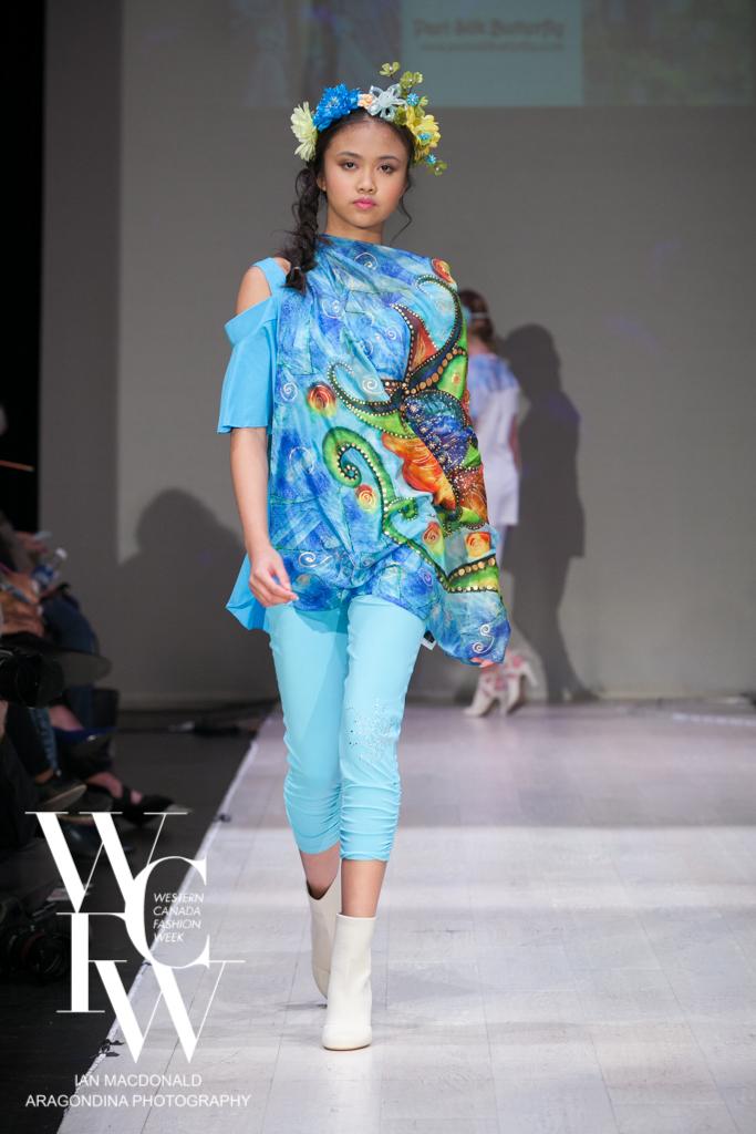 Hand painted silk scarf-Pari Chehrehsa - Designer Scarf- Canada 201826