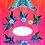 Thumbnail: Pink & Orange Butterfly Garden Elegant Vest Scarf - No Crystal