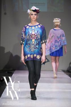 Hand painted silk scarf-Pari Chehrehsa - Designer Scarf- Canada 201872