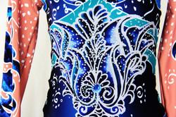 Deep Blue Persian Flower-Close up 1