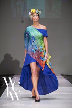 Hand painted silk scarf-Pari Chehrehsa - Designer Scarf- Canada 201811