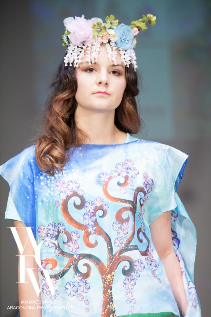 Hand painted silk scarf-Pari Chehrehsa - Designer Scarf- Canada 201823