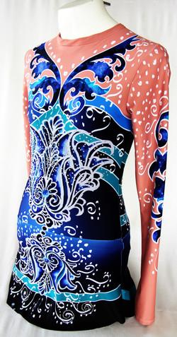 Deep Blue Persian Flower-Side View 3