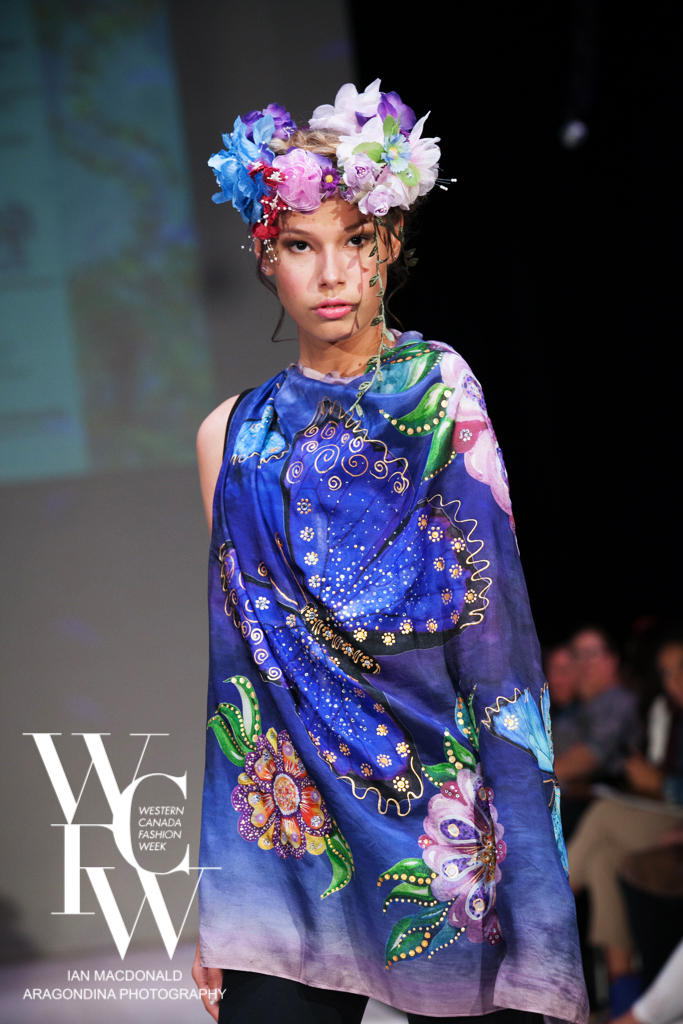 Hand painted silk scarf-Pari Chehrehsa - Designer Scarf- Canada 20186
