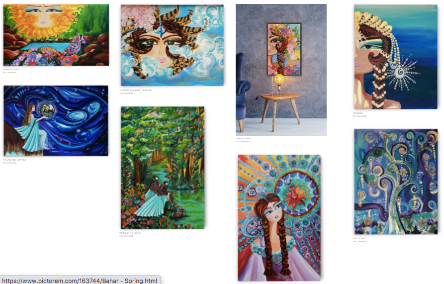 Pari Chehrehsa Paintings on Pictogram-1.