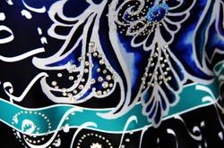 Deep Blue Persian Flower-Close up 4