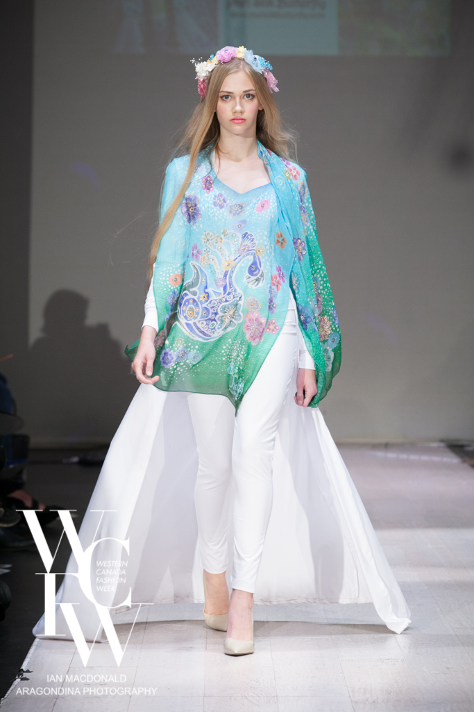 Hand painted silk scarf-Pari Chehrehsa - Designer Scarf- Canada 201821