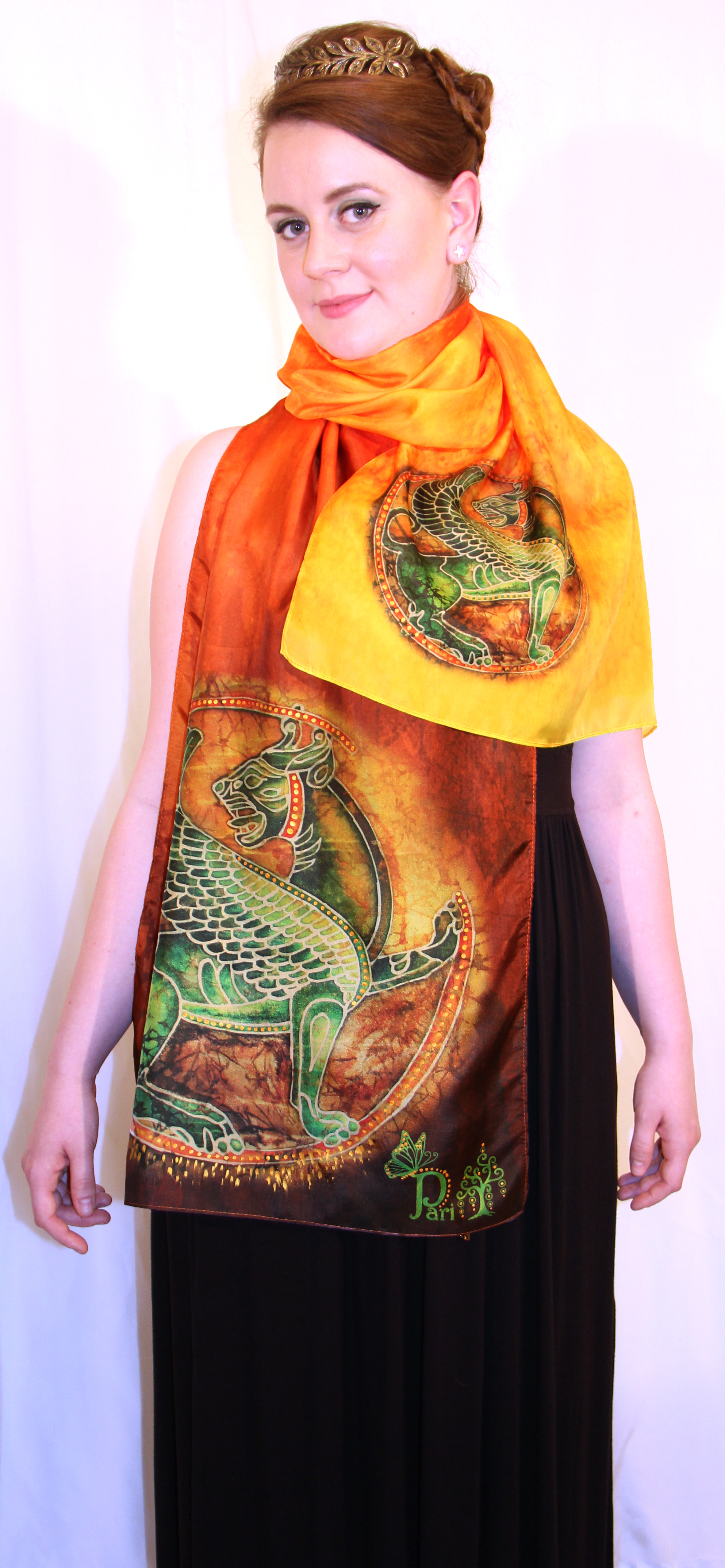 Winged Lion Silk Scarf