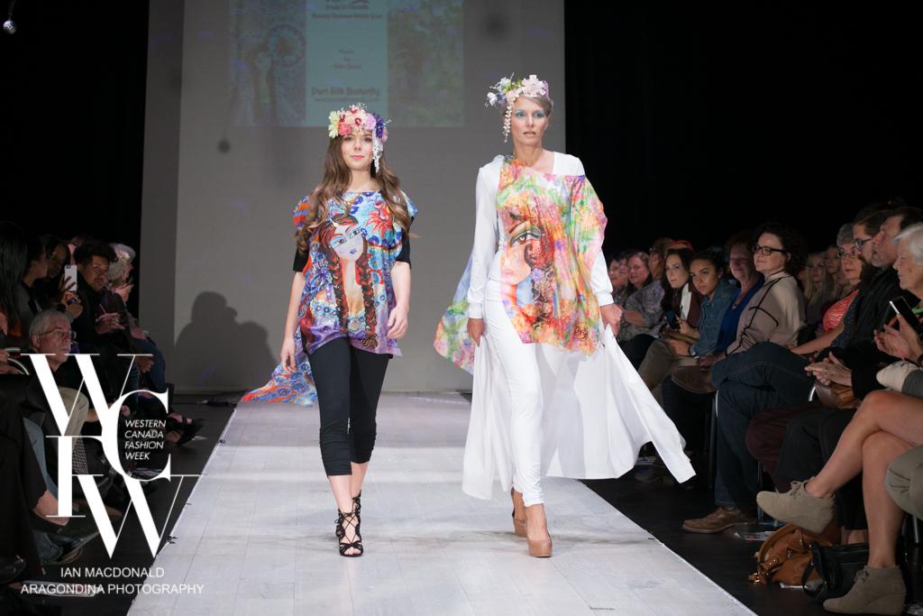 Hand painted silk scarf-Pari Chehrehsa - Designer Scarf- Canada 201810