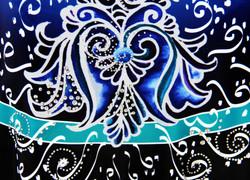 Deep Blue Persian Flower-Close up 3