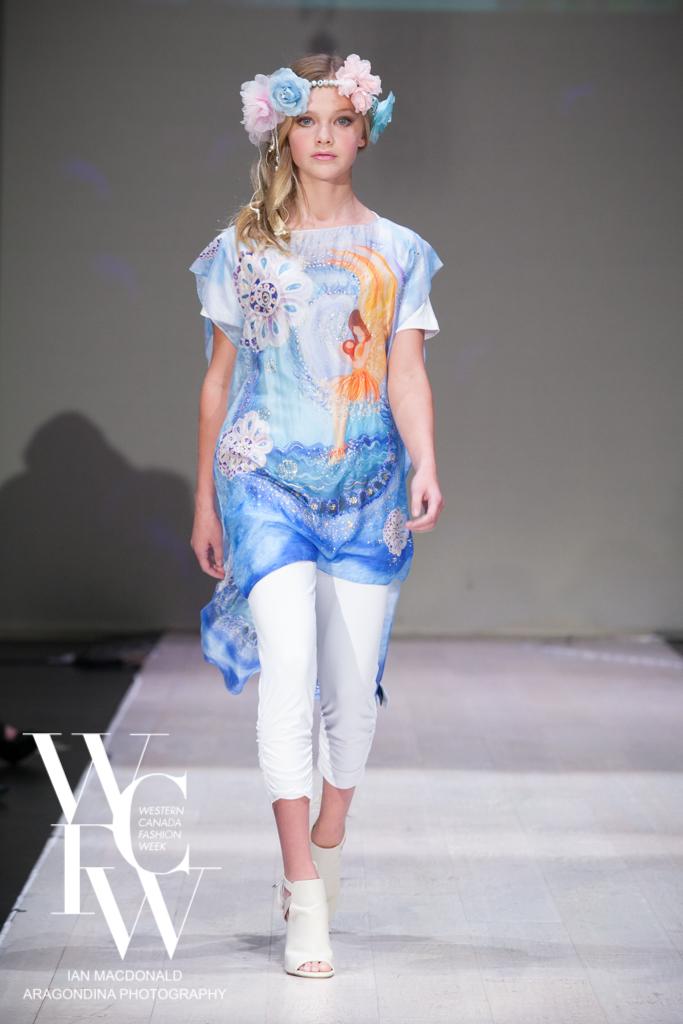 Hand painted silk scarf-Pari Chehrehsa - Designer Scarf- Canada 201824