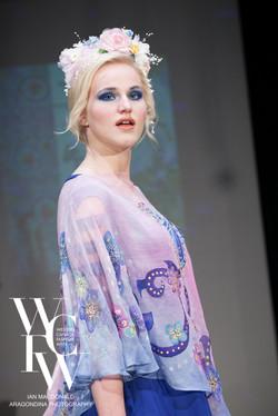 Hand painted silk scarf-Pari Chehrehsa - Designer Scarf- Canada 201871