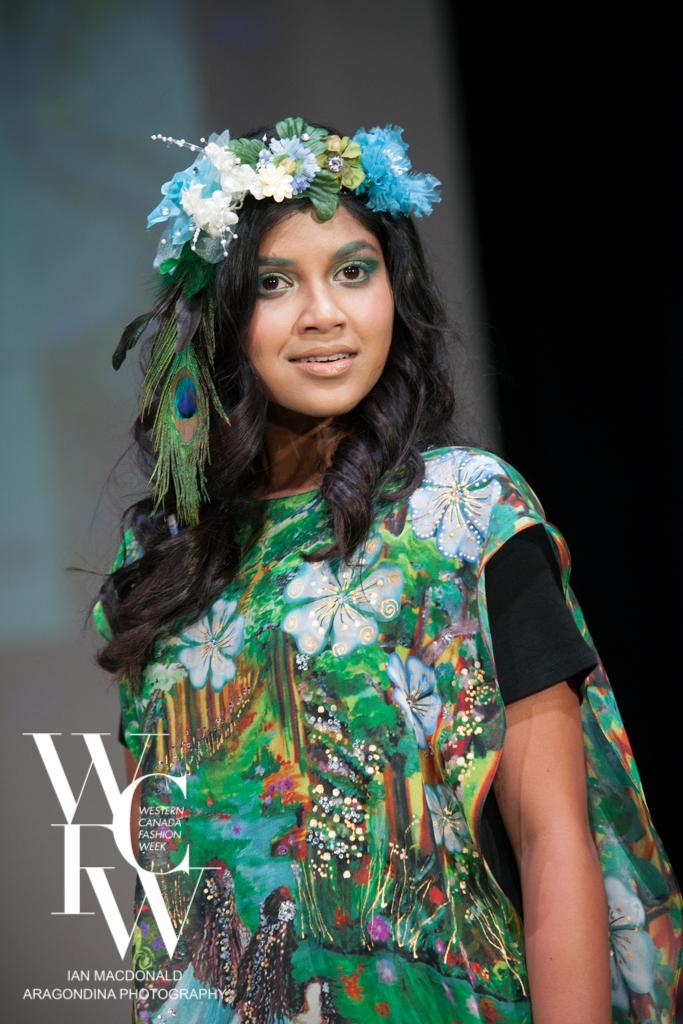 Hand painted silk scarf-Pari Chehrehsa - Designer Scarf- Canada 201818