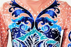 Deep Blue Persian Flower-Close up 2