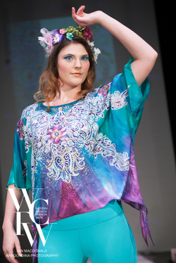Hand painted silk scarf-Pari Chehrehsa - Designer Scarf- Canada 20184