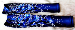 Deep Blue Persian Flower-Leg Warmers 1