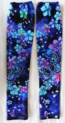 Dancing Butterflies & Flowers  in the Cosmo! leg warmer