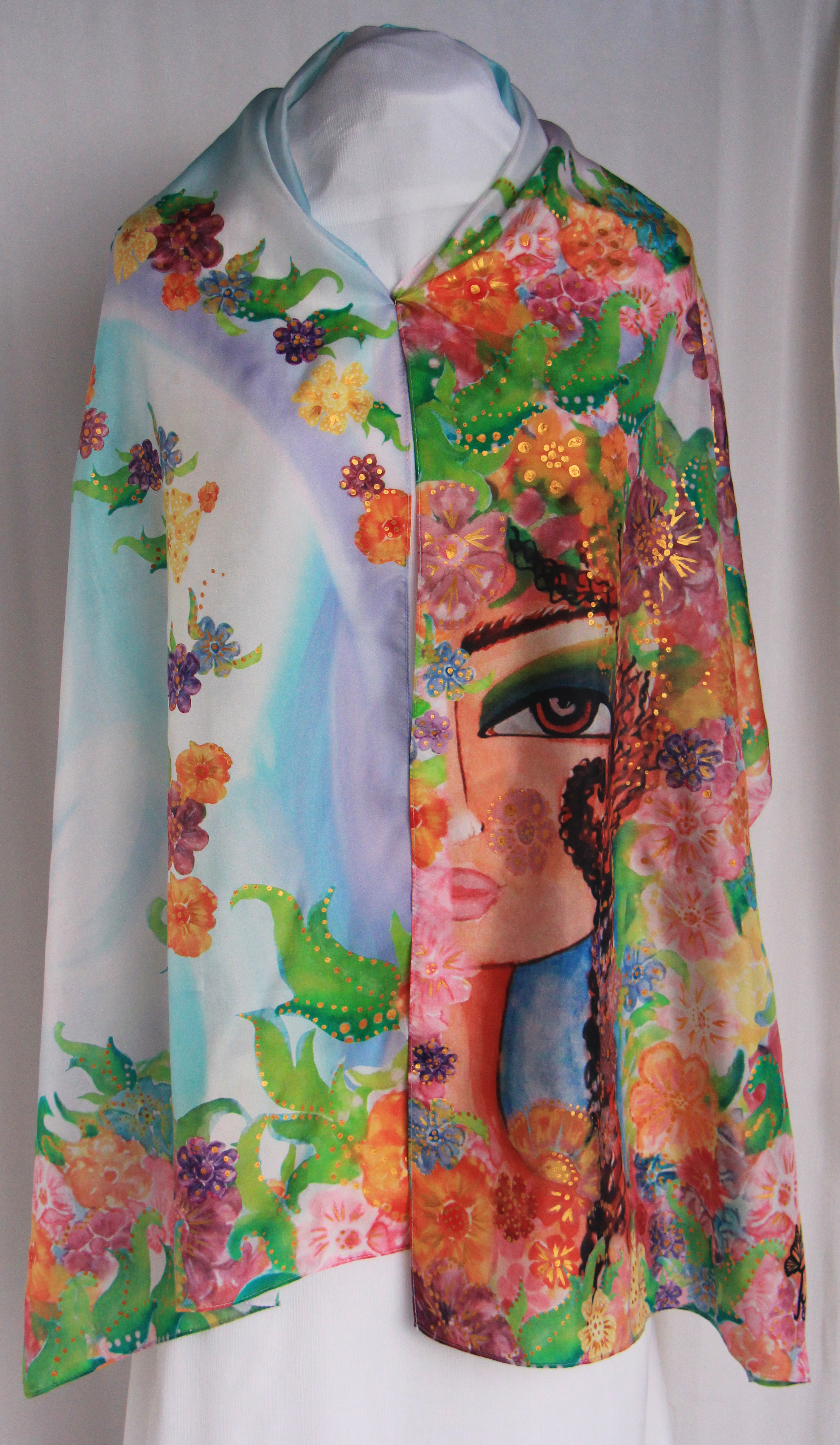 Bahar . Spring Hand painted Silk