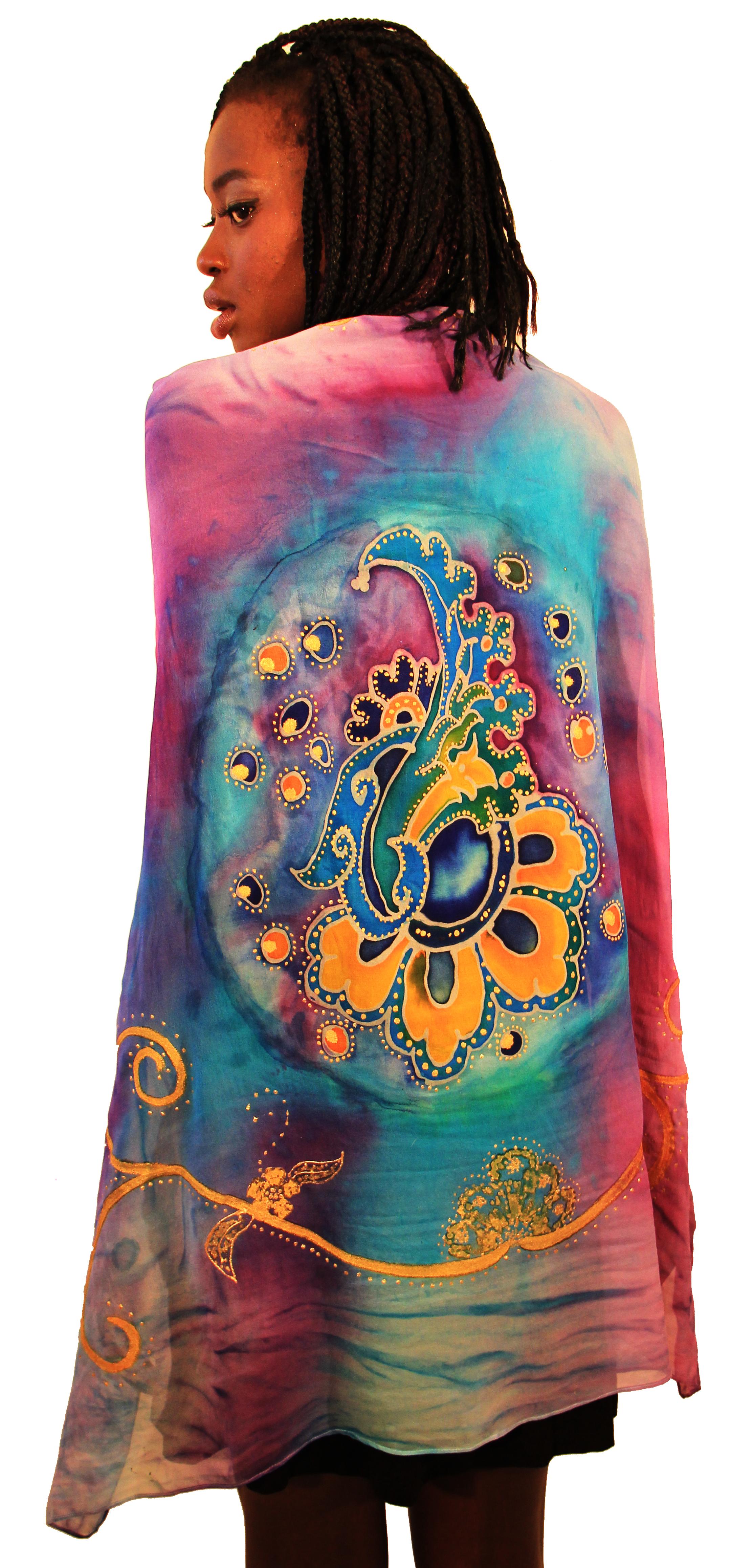 Free hand Persian Paisley in Batik