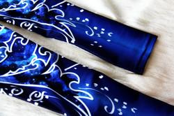 Deep Blue Persian Flower-Leg Warmers 3