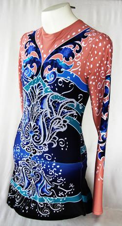Deep Blue Persian Flower-Side View 2
