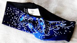 Deep Blue Persian Flower-Headband 2