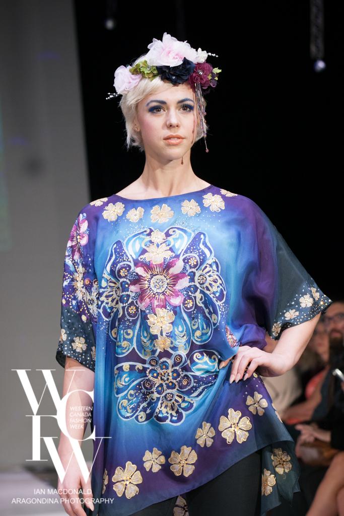 Hand painted silk scarf-Pari Chehrehsa - Designer Scarf- Canada 201873