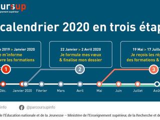 Le calendrier 2020 de Parcoursup est disponible