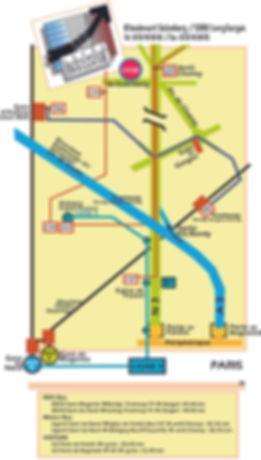 plan d'accès du lycée André Boulloche